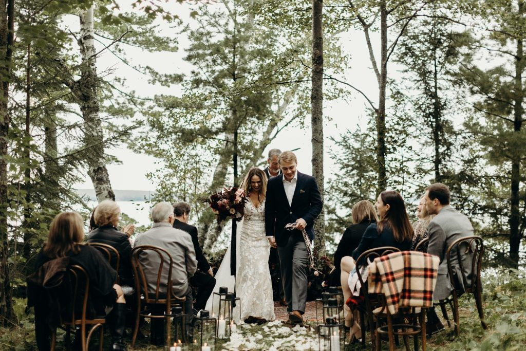outdoor ceremony for an airbnb wedding
