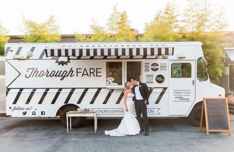 food truck micro wedding couple