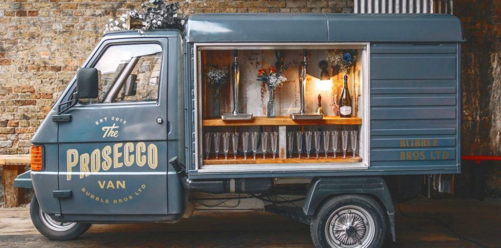 prosecco food truck for a wedding