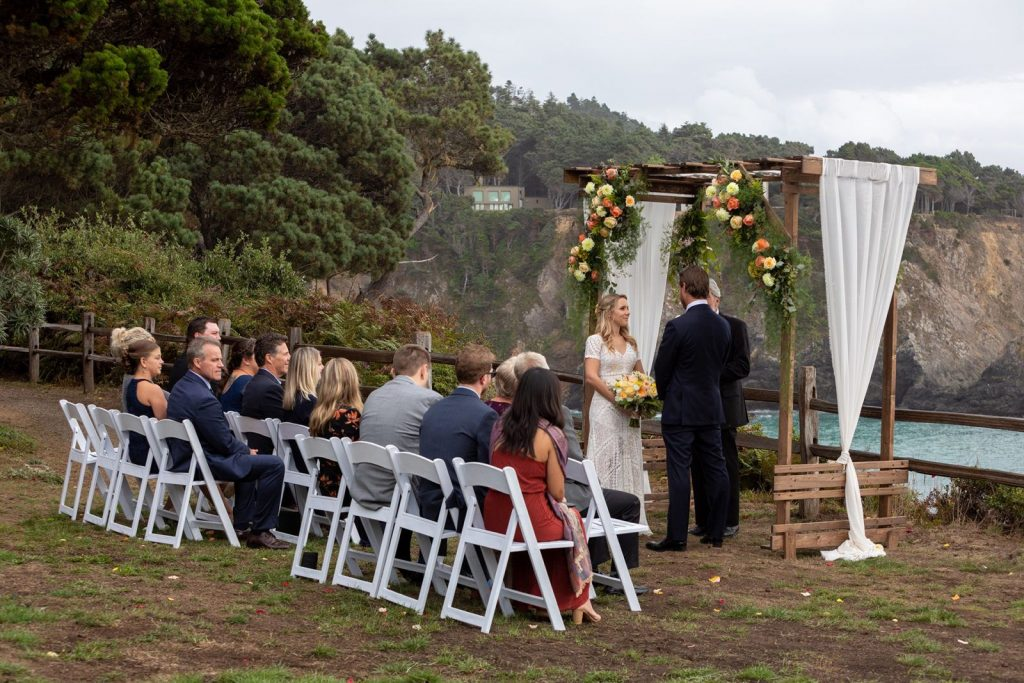 evening backyard micro wedding