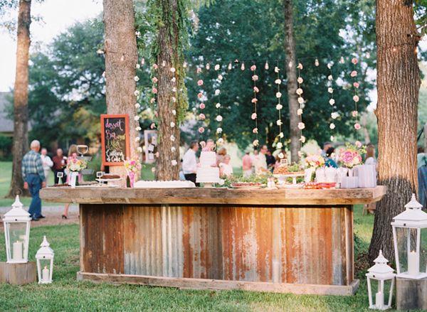 backyard wedding app station outside vendors