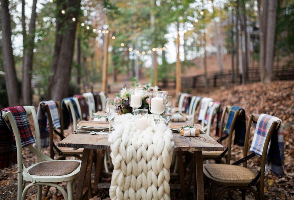 backyard fall micro wedding seasonal