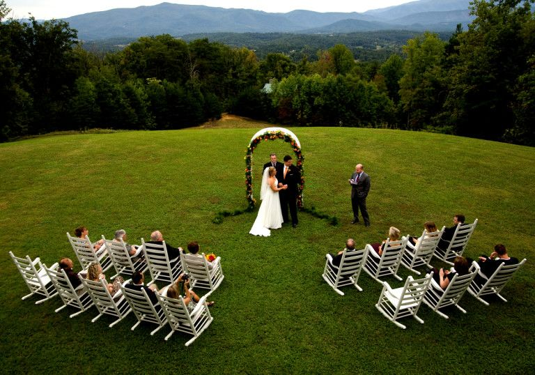 Christopher Place Smokey Mountains Tennessee micro wedding venue with all inclusive packages