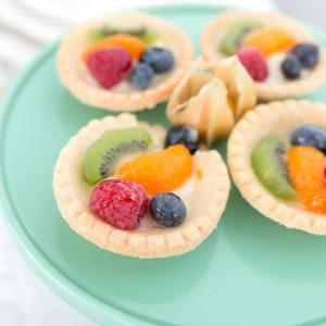 mini tarts with fresh fruit